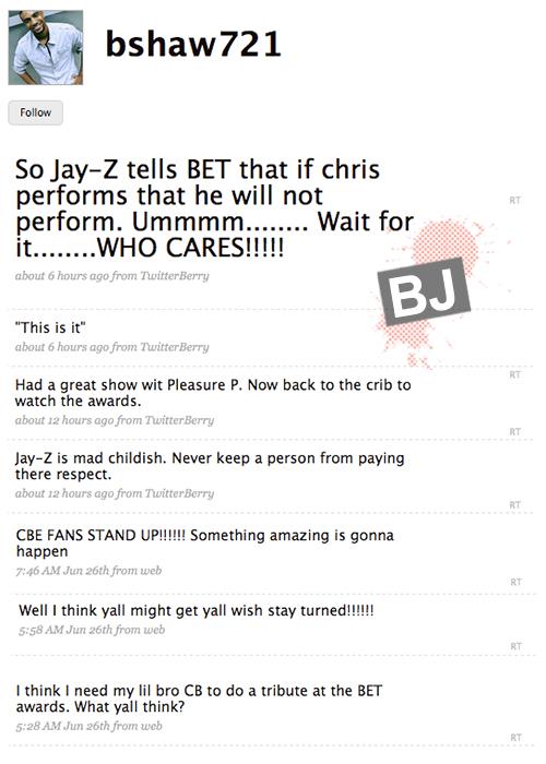 Chris Brown's Backup Dancer Tweets