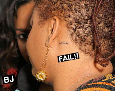 Jill Scott's Neck Tattoo