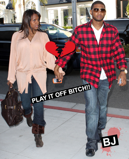 Usher & Tameka in Beverly Hills
